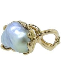Lucifer Vir Honestus - Reticolo Pearl Ring - Lyst