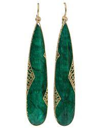 Yossi Harari - Emerald Slice Lace Earrings - Lyst