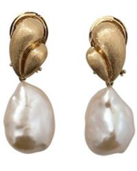 Yvel - White Baroque Freshwater Pearl Drop Earrings - Lyst
