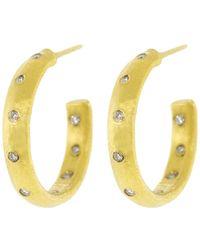 Yossi Harari - Small Mica Diamond Hoop Earrings - Lyst