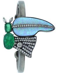 Silvia Furmanovich - Emerald And Opal Cuff - Lyst