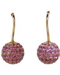 Shamballa Jewels - Pink Sapphire Pave Earrings - Lyst