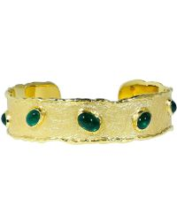 Victor Velyan - Cabochon Emerald Cuff Bracelet - Lyst