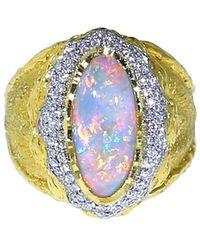Victor Velyan - Black Opal And Diamond Ring - Lyst