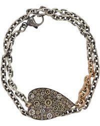 Sylva & Cie - Champagne Diamond Heart Wrap Bracelet - Lyst
