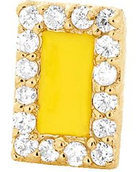 Alison Lou - Yellow Enamel And Diamond Stud - Lyst