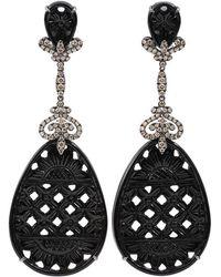 Bochic - Carved Black Onyx Drop Earrings - Lyst
