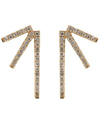 Eva Fehren - Champagne Diamond Sputnik Earrings - Lyst