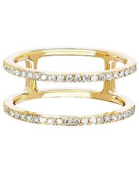 EF Collection - Diamond Double Spiral Ring - Lyst