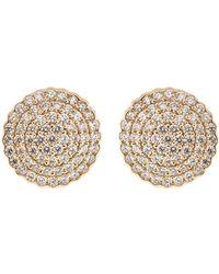 Dana Rebecca - Diamond Pave Stud Earrings - Lyst