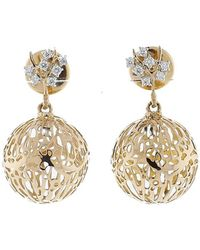 Federica Rettore - Gorgonia Diamond Ball Earrings - Lyst