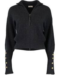 Brunello Cucinelli - Ribbed Cropped Cardigan - Lyst