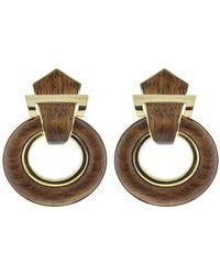 David Webb - Door Knocker Earrings - Lyst