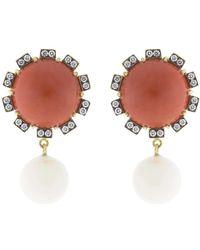 Sylva & Cie - Mediterranean Coral Earrings - Lyst