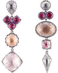 Larkspur & Hawk | Sadie Mis-matched Peony Earrings | Lyst