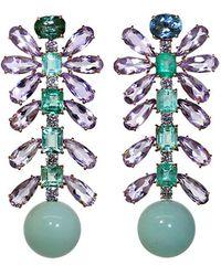 Irene Neuwirth - Tourmaline And Emerald Earrings - Lyst