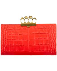 Alexander McQueen - Four Ring Knuckle Flat Pouch - Lyst