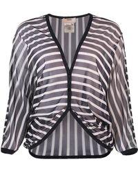 Fuzzi - Striped Cardigan - Lyst