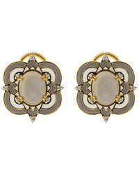 Buddha Mama - Grey Moonstone Earrings - Lyst