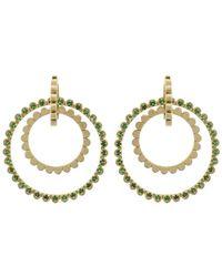 Gemfields X Muse - Emerald 3 Hoop Earrings - Lyst