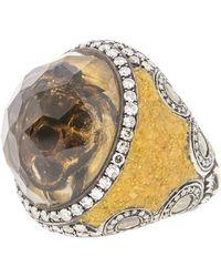 Sevan Biçakci - Carved Citrine Sea Turtle Diamond Ring - Lyst