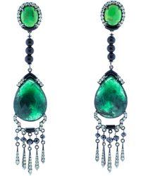 Wendy Yue | Emerald Drop Earrings | Lyst