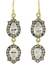 Sylva & Cie - Pear Shape Drop Earrings - Lyst