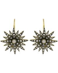 Sylva & Cie - Diamond Starburst Earrings - Lyst