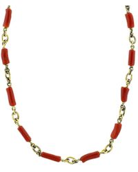 Sylva & Cie - Coral Bead Necklace - Lyst