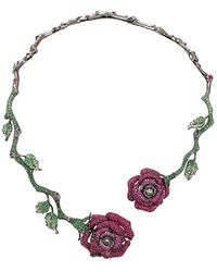 Wendy Yue - Ruby Roses Necklace - Lyst