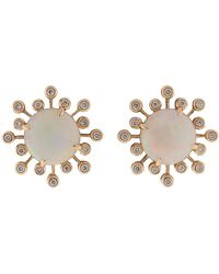 Dana Rebecca - White Opal Stud Earrings - Lyst