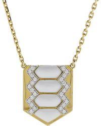 David Webb - Shield Necklace - Lyst