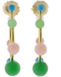 Irene Neuwirth - Turquoise Chrysoprase Pink Opal Earrings - Lyst