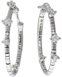 Mattia Cielo - Rugiada Diamond Hoop Earrings - Lyst