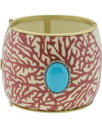 Silvia Furmanovich - Marquetry Red Coral And Turquoise Bracelet - Lyst