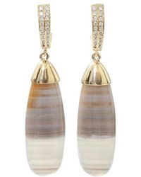 Pamela Huizenga - Saturn Chalcedony Earrings - Lyst