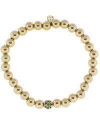 Sydney Evan - Ombre Pave Bead Charm Bracelet - Lyst