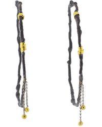 Boaz Kashi - Dangle Hoop Earrings - Lyst