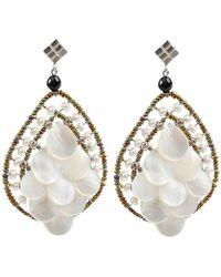 Ziio - Mermaid Water Pearl Earrings - Lyst