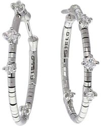 Mattia Cielo - Rugiada Diamond Hoop Earrings - Lyst