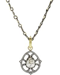 Sylva & Cie - Pear Shape Rough Diamond Pendant - Lyst