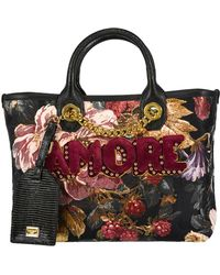 Dolce & Gabbana - Jacquard Amore Floral Print Tote - Lyst