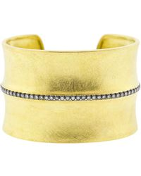 Todd Reed - Diamond Line Wide Gold Cuff - Lyst