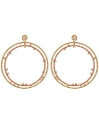 Nancy Newberg - Double Floating Diamond Hoop Earrings - Lyst