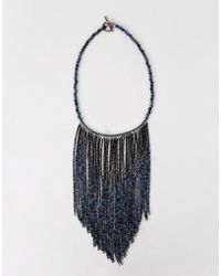 Brunello Cucinelli - Fringe Bib Monili Necklace - Lyst