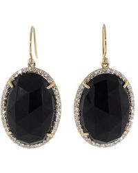 Irene Neuwirth - Rose Cut Black Onyx Earrings - Lyst