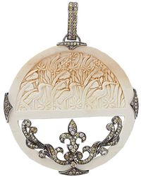Bochic - Carved Mammoth And Diamond Pendant - Lyst