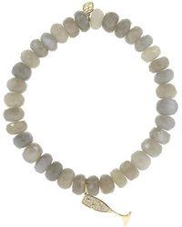 Sydney Evan - Pave Diamond Champagne Glass Charm Bracelet - Lyst
