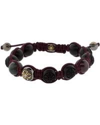 Shamballa Jewels - Ebony Wood Bead Bracelet - Lyst