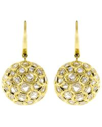 Sidney Garber - Diamond Honeycomb Drop Earrings - Lyst